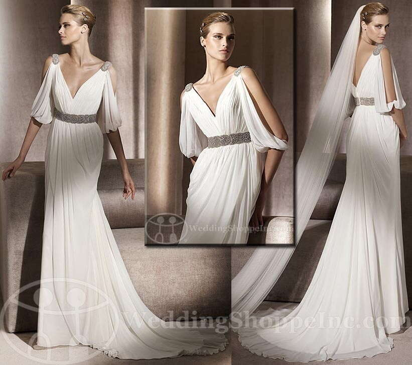 Pronovias 2011 Famosa. Grecian Inspired Gown Featuring